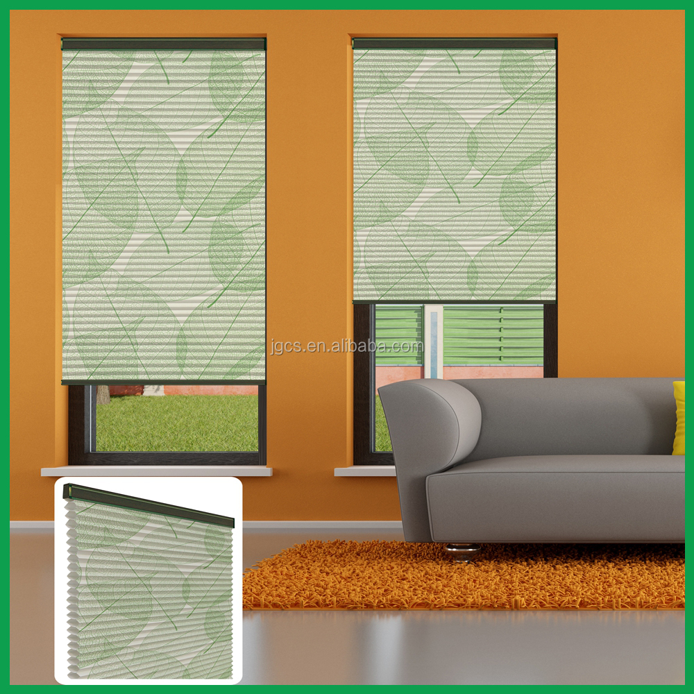 printed fabric 100% blackout honeycomb blinds and curtains and one way window blindsfor child room decoration
