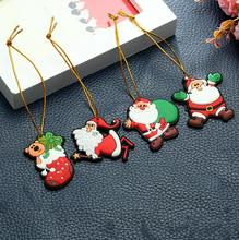 DEMIZXX897 Wholesale Custom Mini Size PVC Material Cute Pattern Free Shipping New Design Home Christmas Tree Ornaments