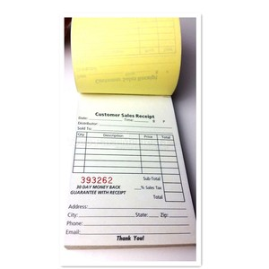Invoice Sales Receipt Order Book 70 Set Forms 2 Part Carbonless