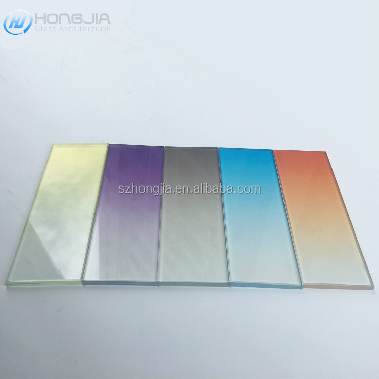 Good quality  gradient color art Prints Digital Printing Toughened Glass