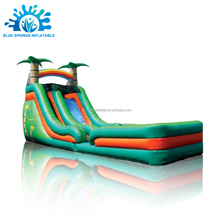 Coconut Trees Inflatable Water Slide with Pool