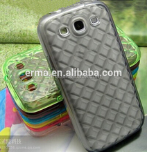 for Samsung for Galaxy S3/i9300 3D Diamond Grids Decorative Soft TPU Case