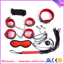 Hot Selling Adult Sex Play Toys 7 item/Set BDSM Sex Toy For Men/Women Bondage BDSM HandCuffs Kits