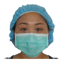 high quality disposable non woven dental use 3 ply face mask