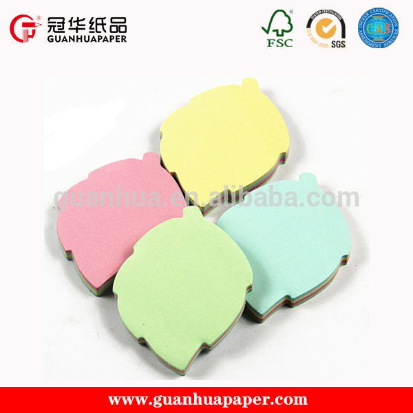 Fancy High quality leaf shaped sticky notes