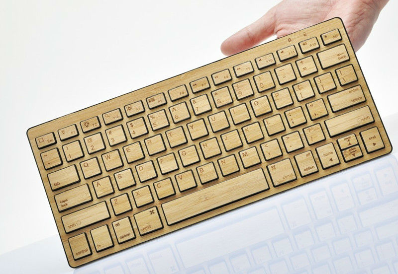 For Ipad Bluetooth keyboard Made of Bamboo