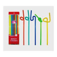 Plastic Drinking Beverage Art flexible Black Straw,flexible drinking straws,color crazy plastic drinking curly loop straws