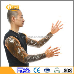 Glove manufacturer PE shoulder length disposable veterinary long sleeve gloves
