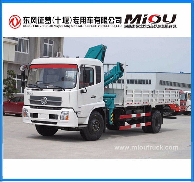 Top quality Dongfeng pickup truck mounted crane for sale in qatar