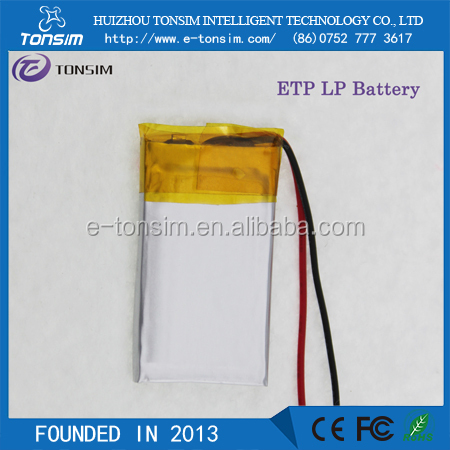China battery supplier 502035 3.7v 300mah lipo battery for bluetooth
