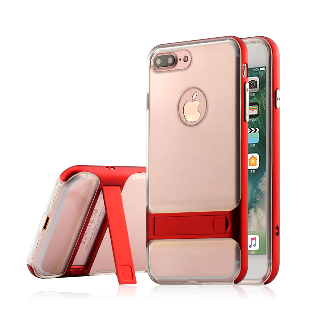 Transparent Back metal bumper case for iPhone 6 phone case custom