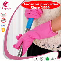 Light Weight Non Powered Colorful powder free latex gloves wholesale