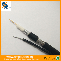 Coaxial cable RG6 with Steel Messenger strong RG6 RG59 cable