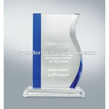 Crystal book shape trophy for academy Graduation
