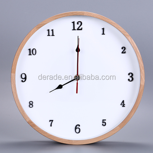 Home Fancy Decorative Cutomized Logo Wooden Wall Clock