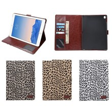hot selling Leopard leather stand cases cover for ipad Pro 9.7 , for ipad pro protective case