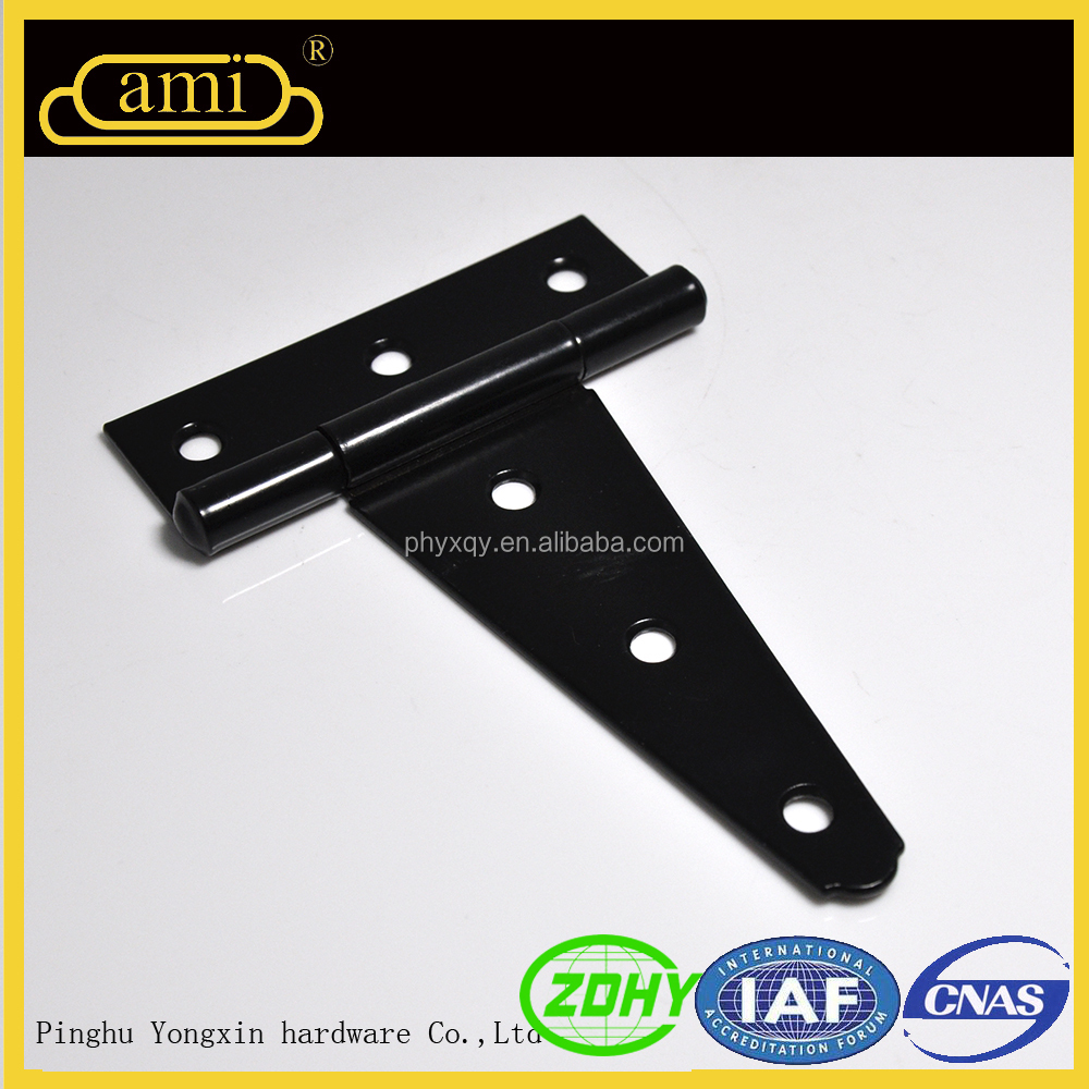 Zinc and black surface double sided real estate door rubber T hinge strip