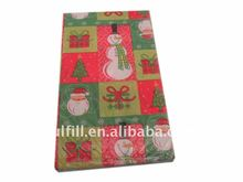 Wholesale Yiwu Creative Colored Christmas Dinner tissue Napkin paper 1/4 fold