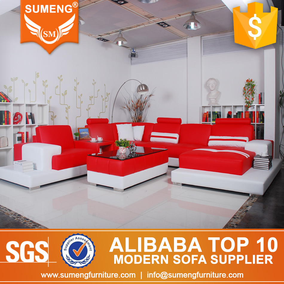 Sumeng 2016 top grain leather china furniture sofa