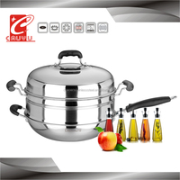 CYWKSC34C-11 stainless steel food steamer with glass lid