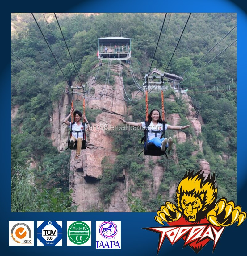 zip wire, aerial runway, aerial ropeslide, death slide, flying fox, foefie slide
