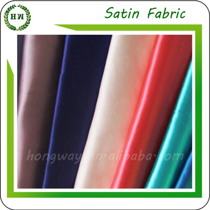 Hongway Weave Satin fabric 100%Polyester Lining For Garment