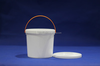 1 Litre Packing Bucket Ice Cream Pail Packs Yogurt Packing Plastic Buckets