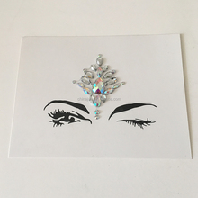 white clear glass diamond face jewel stickers latest design bindi