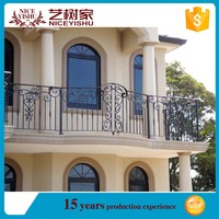 low price india simple antique 2016 new design rusticforged iron veranda railings/ ornamental aluminum balcony balustrade