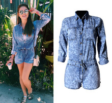 C73160A Women plus size denim jumpsuit women denim jumpsuit