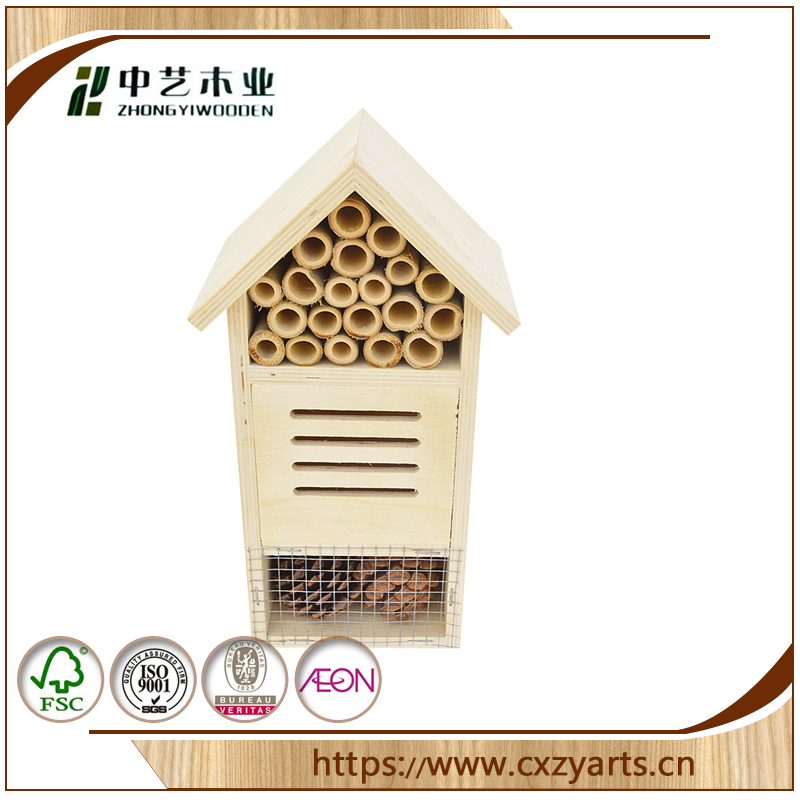 factory sale FSC pine bird hosue irregular shape unpainted wooden bird house for protecting birds