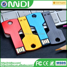 2016 Fashion New 32GB 2.0 USB Flash drive 64GB 16GB pen drive 4GB 8GB Waterproof Metal Key model USB