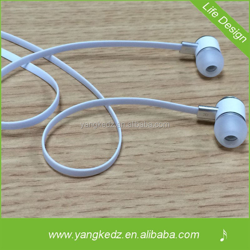 3.5mm Stereo Noise-reducing Metal Mobile Ear Phones With Mic From Shenzhen Manufacturer