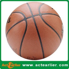 high grade pu leather customized basketball for match