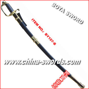 Swords with black sheath Ceremonial sabre Metal practice sword BY107B