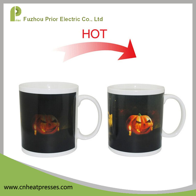 Some Parts Heat Sensitive Color Changing Ceramic Magic Coffee Mug