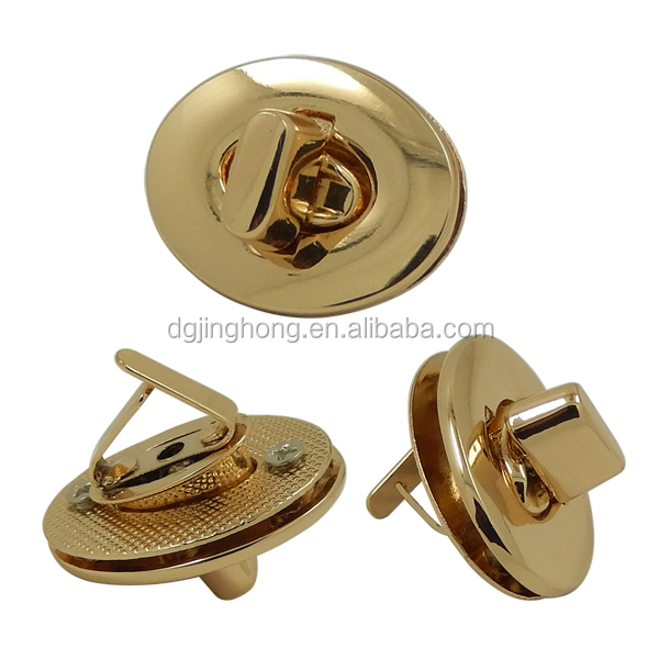 Oval Twist Bag Turn Accessories Buckle Hardware Metal Lock