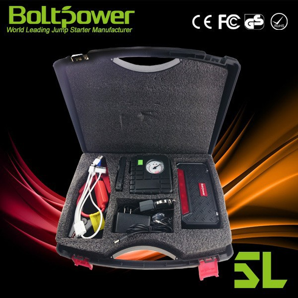 Boltpower GO6A battery starter pack jump starter connect jumper cables to jump start 6L gas car