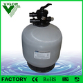 Factory 6 position valve top mount fiberglass sand filter for swimming pool water treatment