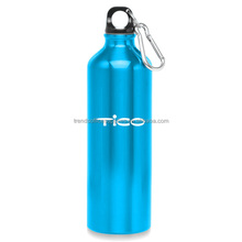 Twist-on Cap Stainless Steel Sports Water Bottle with Carabiner Attaches