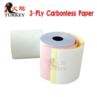 Excellent quality 3 ply NCR carbonless paper roll 76x76mm