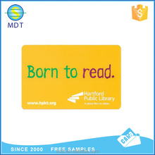 Custom printing library memebership card book reading card for campus