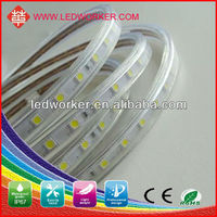 LVD, EMC RoHS approved 220V High voltage 5050 led flexible strip light Power plug,warm white/cool,60led/m,14.8w/m