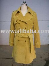Pig Suede Leather Coats With Rivets