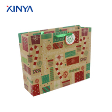 Distinctive and popular kraft brown paper square bottom bag