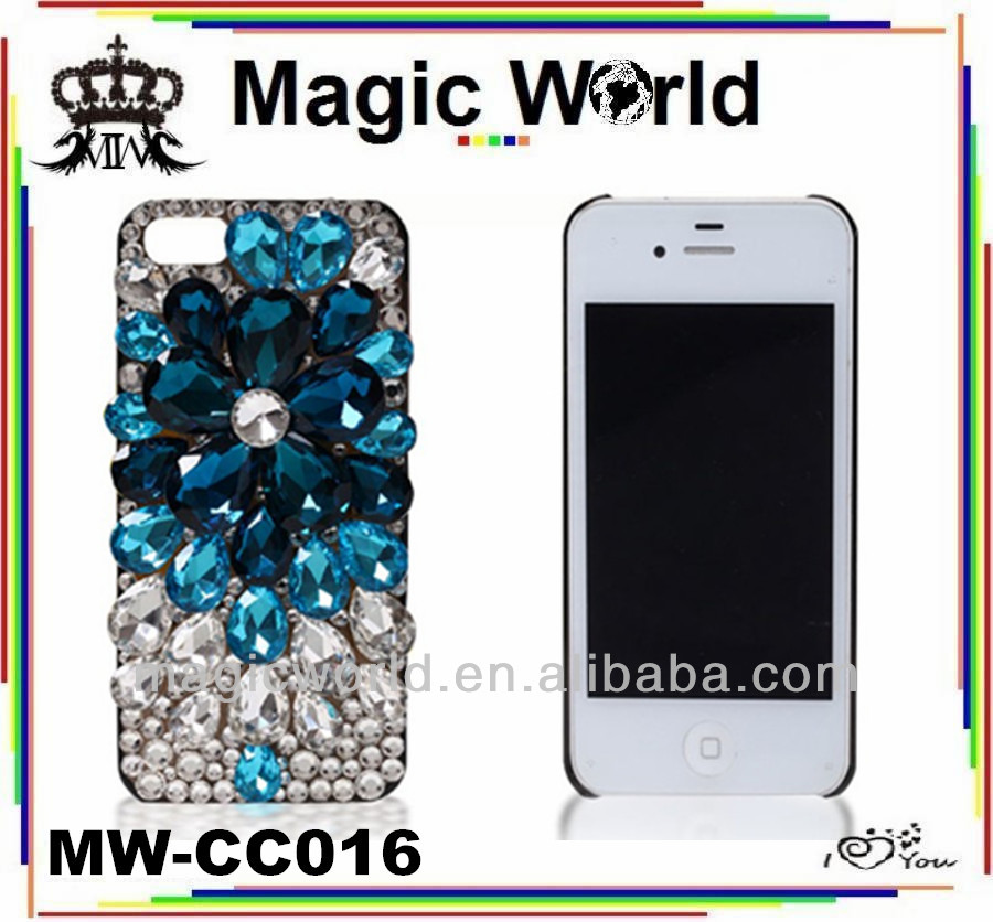 crystal stone mobile phone cover for iphone 6s