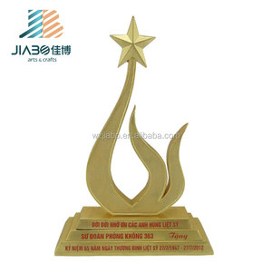 Exquisite golden plating metal trophy bright star