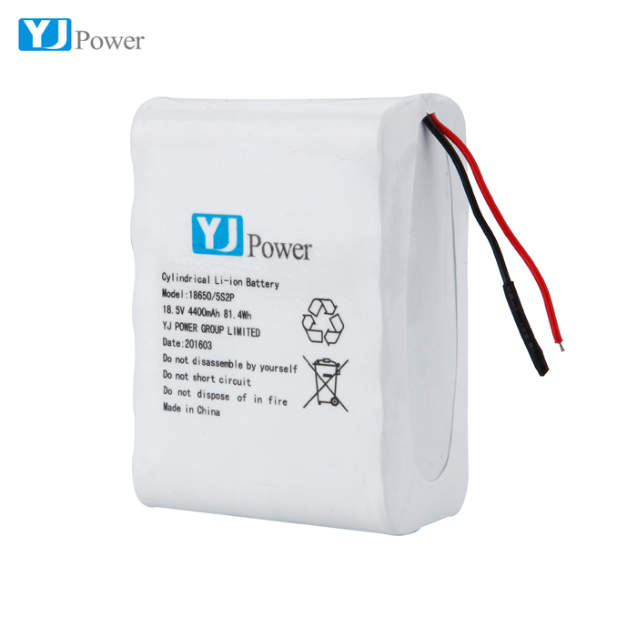Battery Pack Rechargeable Lithium-Ion Batteries 18650 5s2p 18.5v