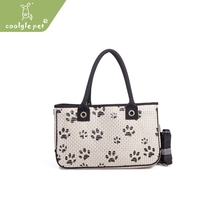 Lovely Paws Pattern Friendly Dog Travel Hand Bags Cheap Durable Pet Sling Carrier