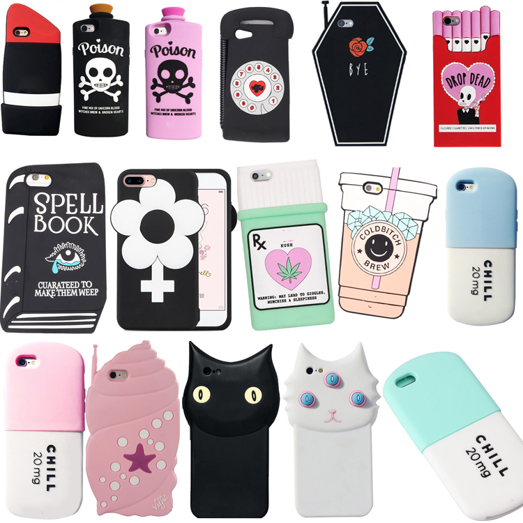 For iPhone 4 4s/5 5s/SE/5c/6 6s/6Plus 6s Plus/7 7 Plus 3D Silicon Cupcake Fashion Soft Phone Back Case Cover